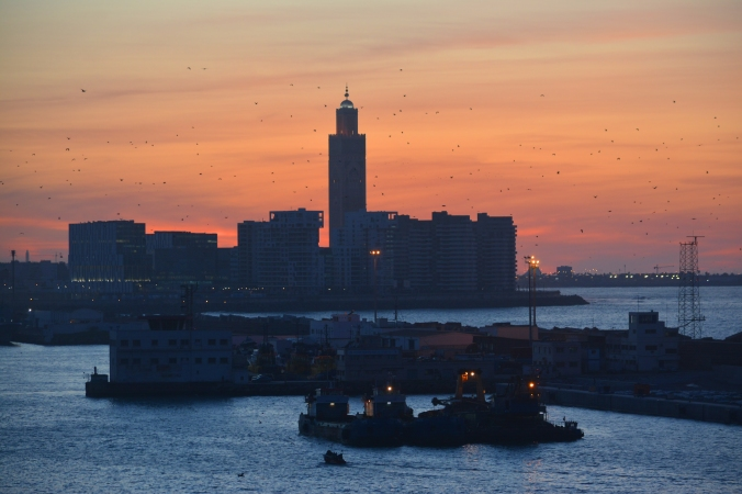 Dusk Casablanca Harbor 0470