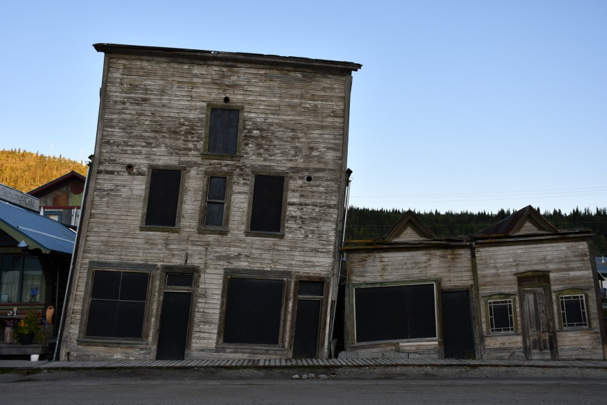 Permafrost effect on old buildings